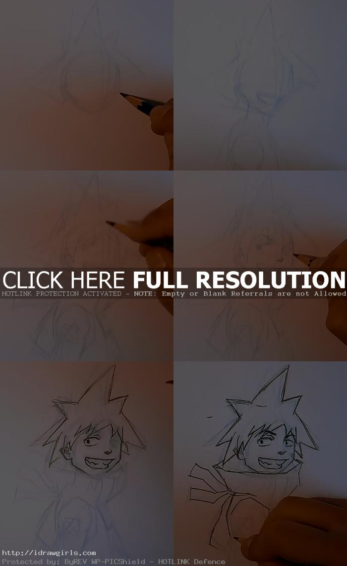 how to draw Anime Blackstar Soul