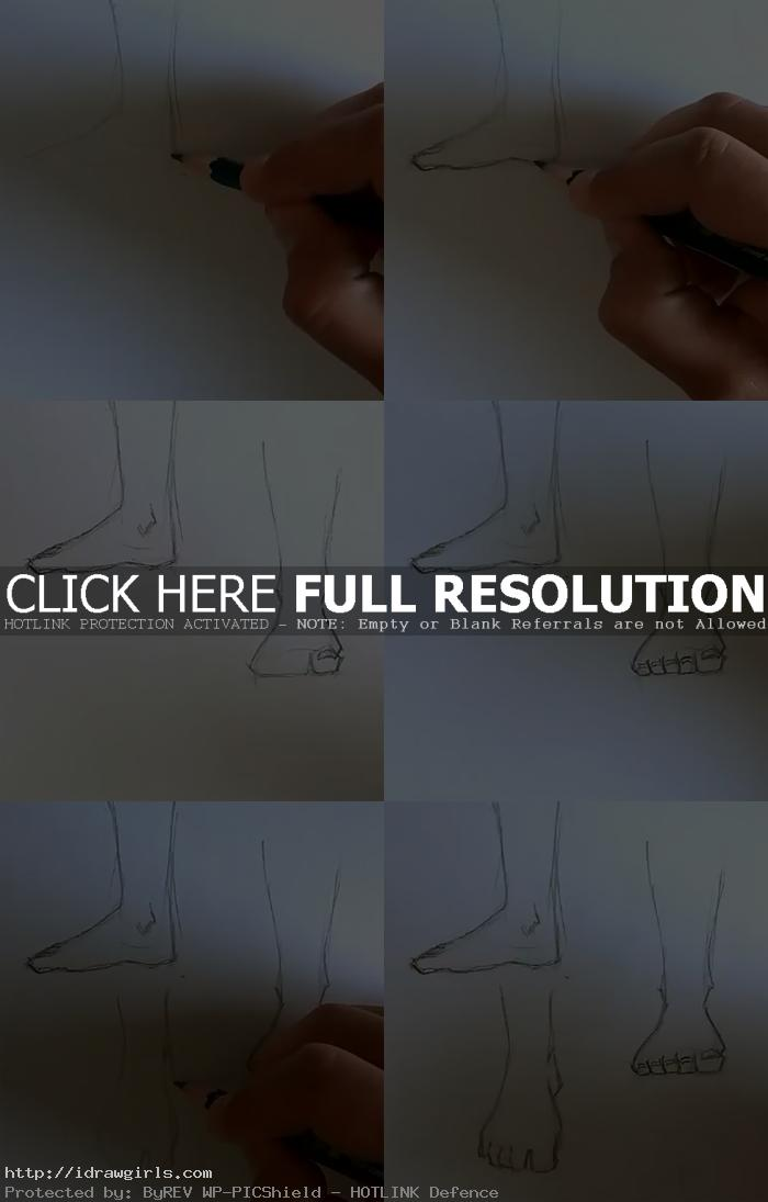 how to draw foot How to draw foot