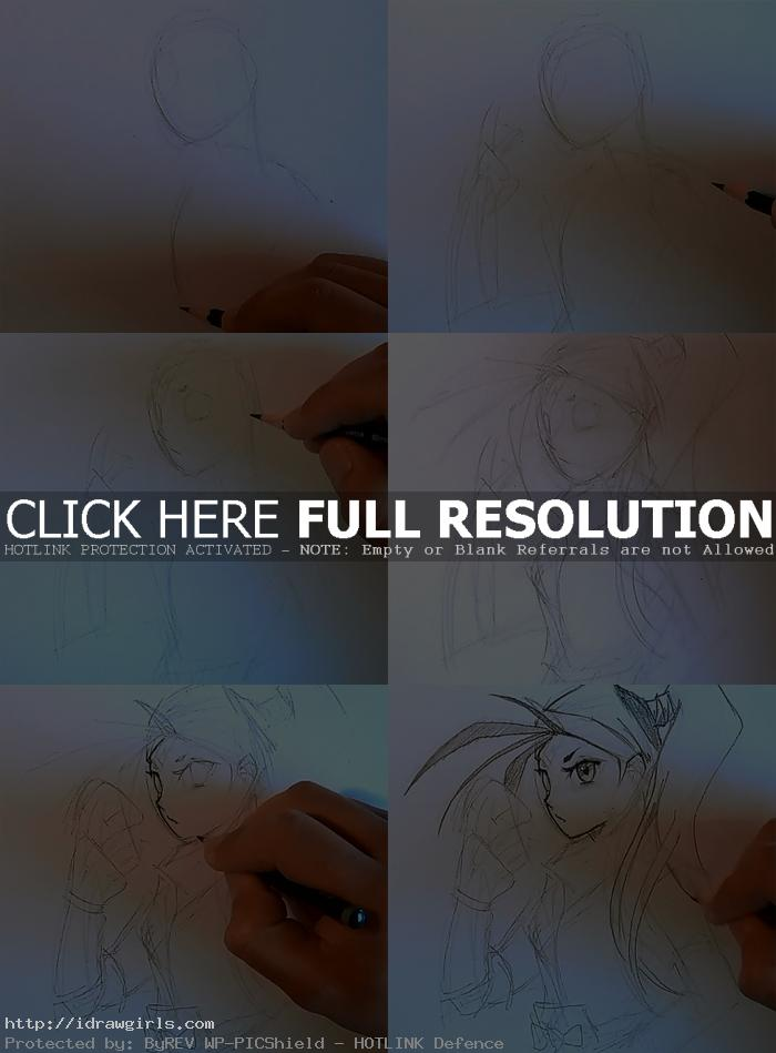 how to draw ibuki How to draw Ibuki 