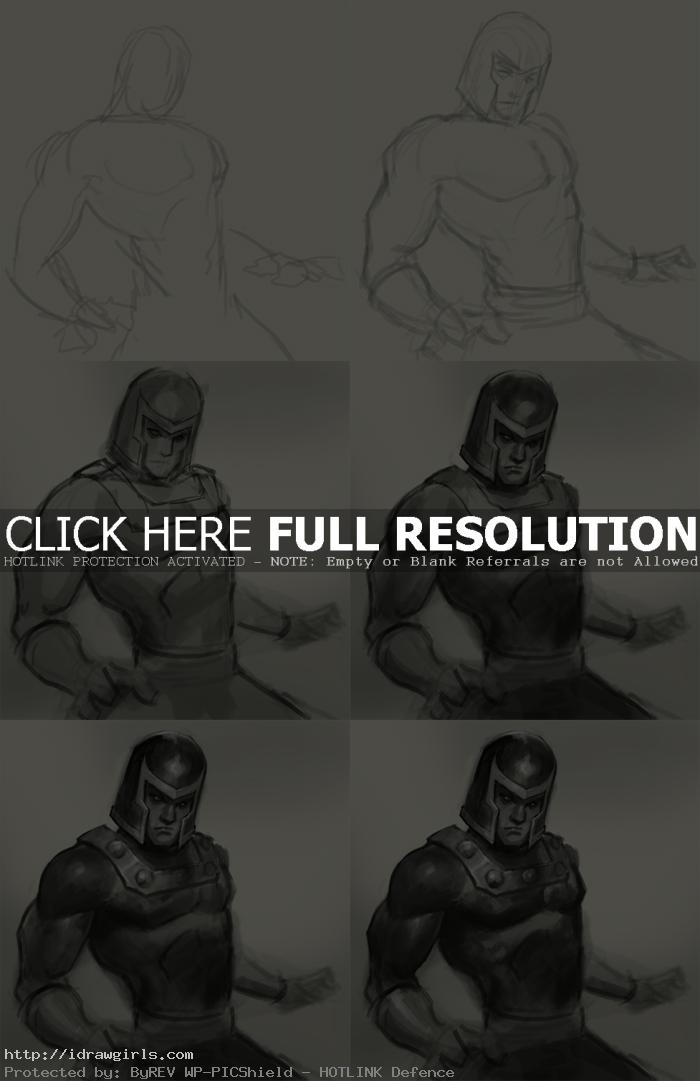 how to draw magneto How to draw Magneto