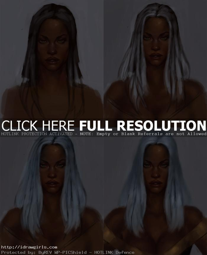how to draw marvel comics storm How to draw X men Storms face