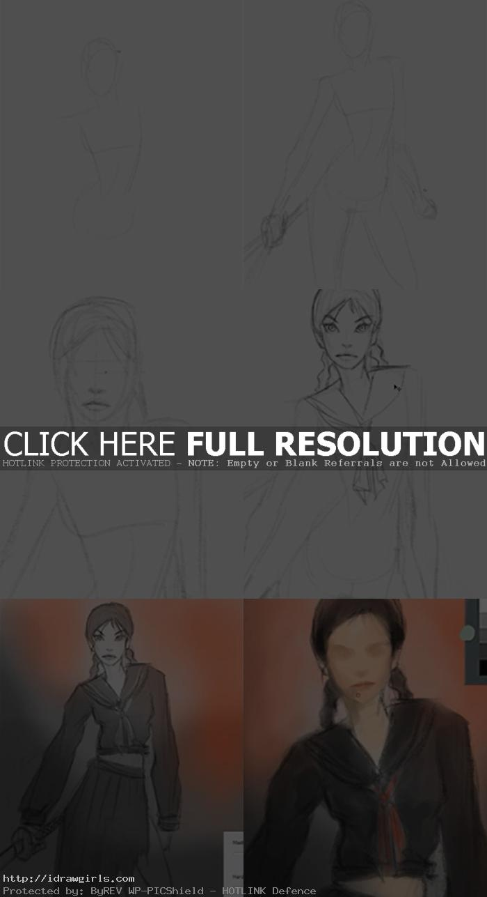 how to draw saya vampire hunter How to draw Saya, the last vampire