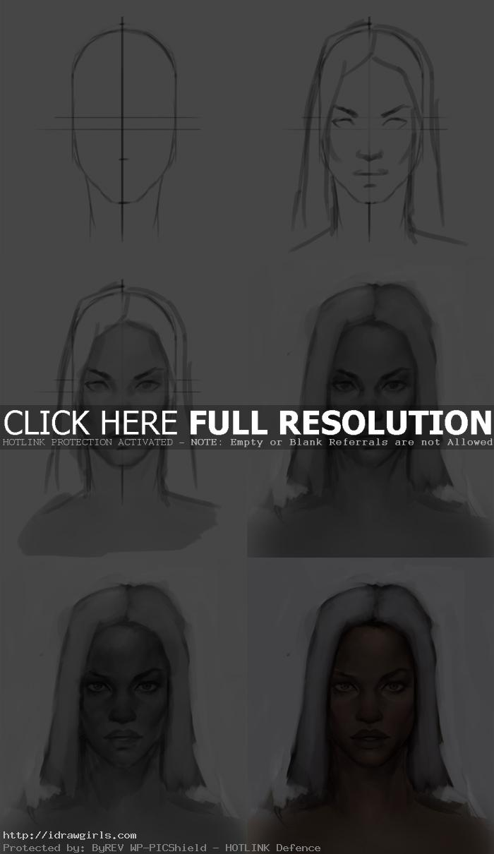 how to draw storm face How to draw X men Storms face