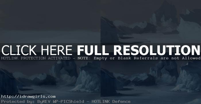 how to paint arctic environmental concept How to paint arctic environmental concept art
