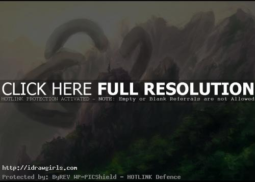 hydra over mountains
