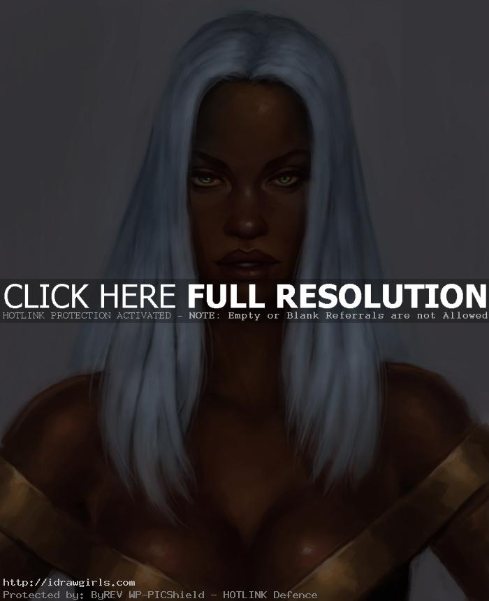 storm x men How to draw X men Storms face