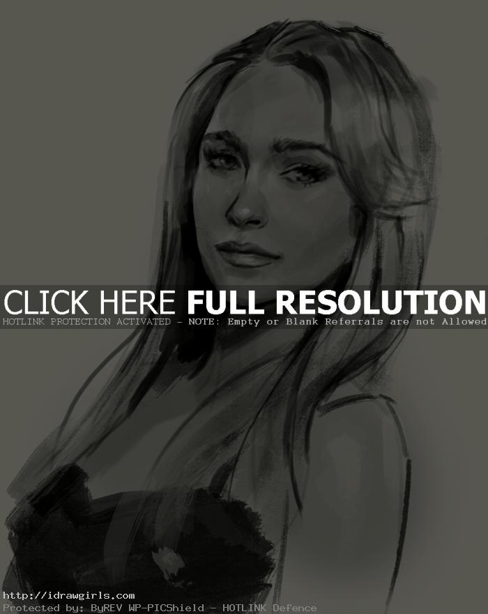 Claire Bennet or Hayden Panettiere drawing