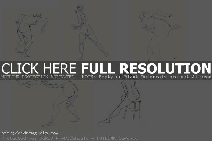 gesture drawing with pen
