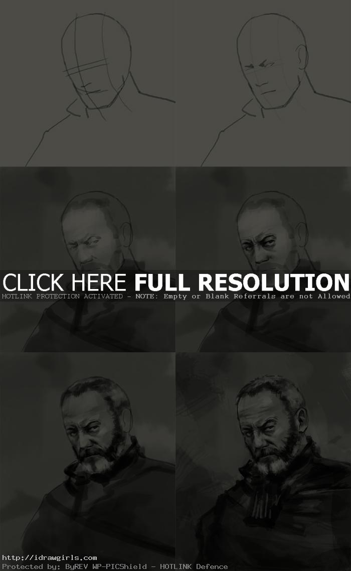 how to draw davos seaworth game of thrones How to draw Davos Seaworth