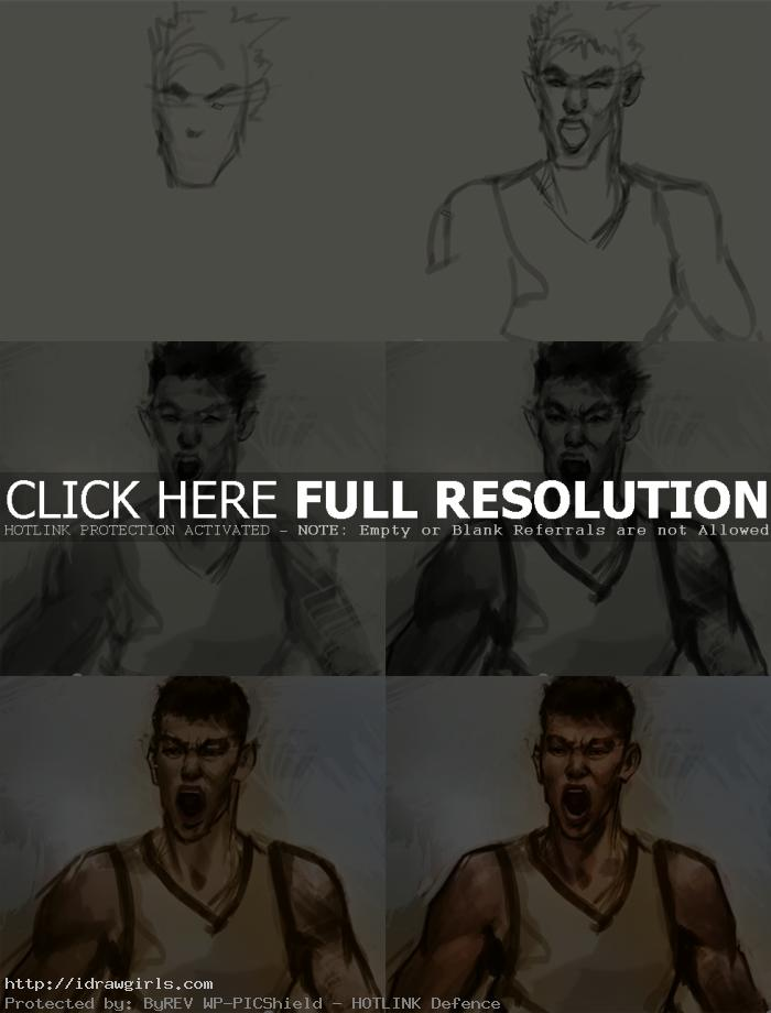 how to draw jeremy lin How to draw Jeremy Lin