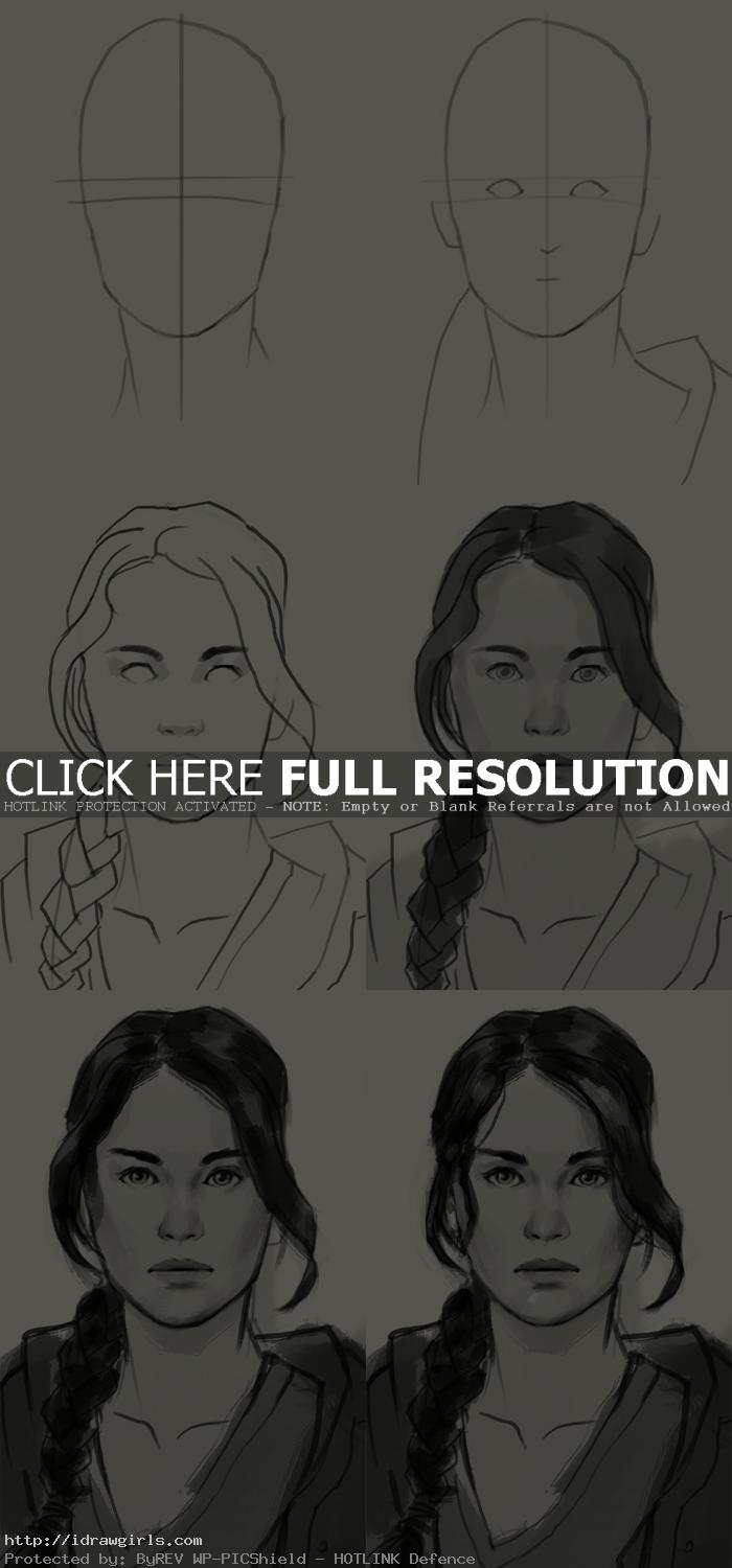 how to draw katniss everdeen How to draw Katniss Everdeen