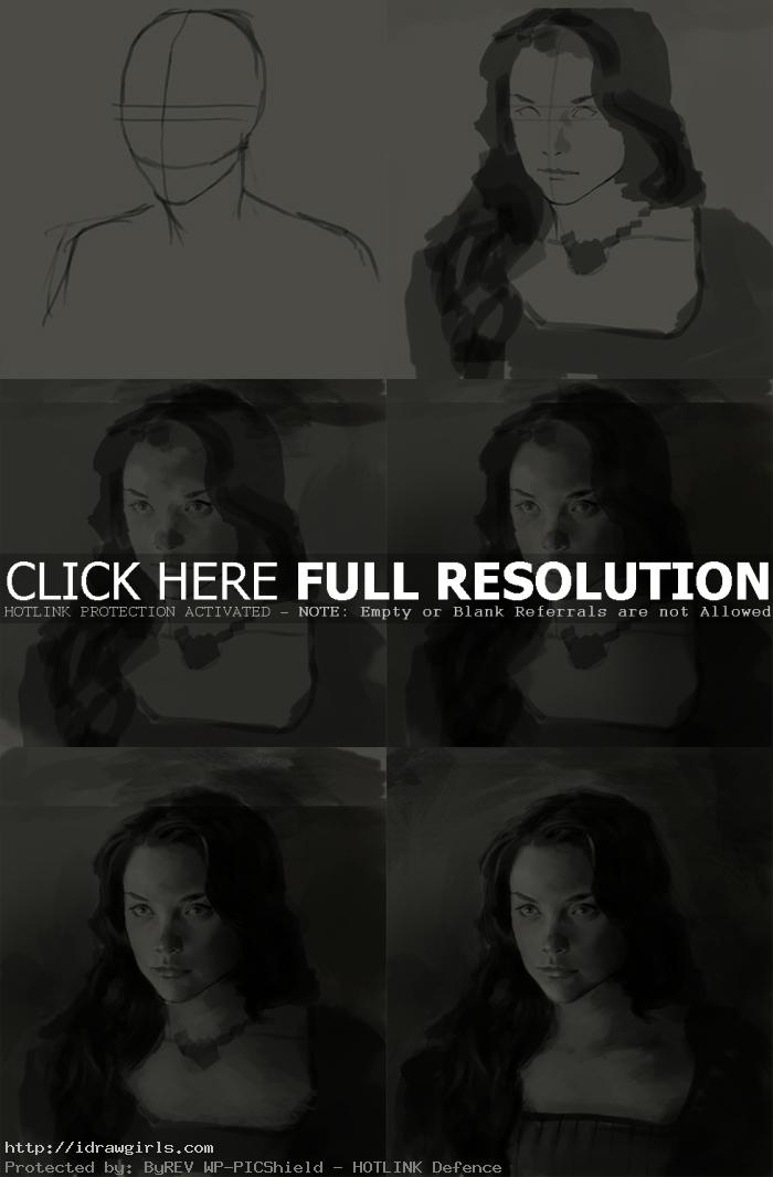 How to draw Margaery Tyrell