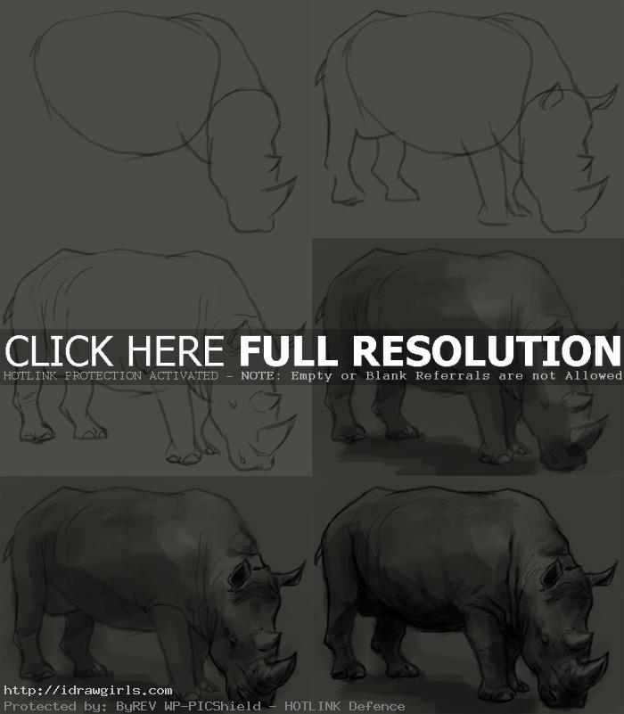 how to draw rhino How to draw rhino