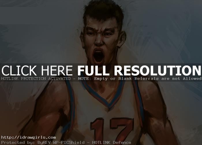 How to draw Jeremy Lin