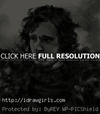 Jon Snow drawing Game of Thrones