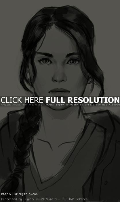 katniss everdeen drawing How to draw Katniss Everdeen