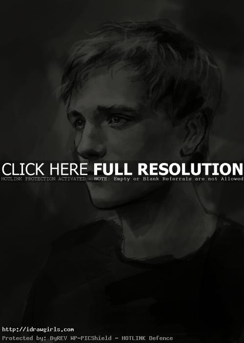 How to draw Peeta Mellark