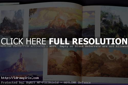 tangle environmental concept art disney Tangle concept art book review