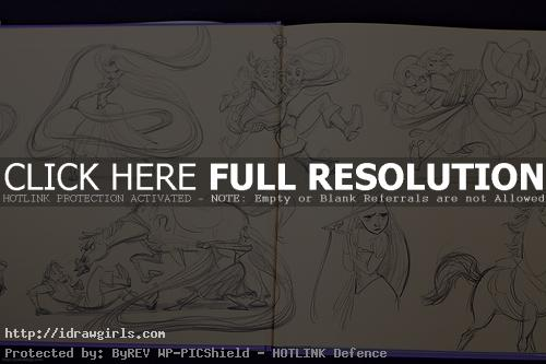 tangle the art disney book Tangle concept art book review
