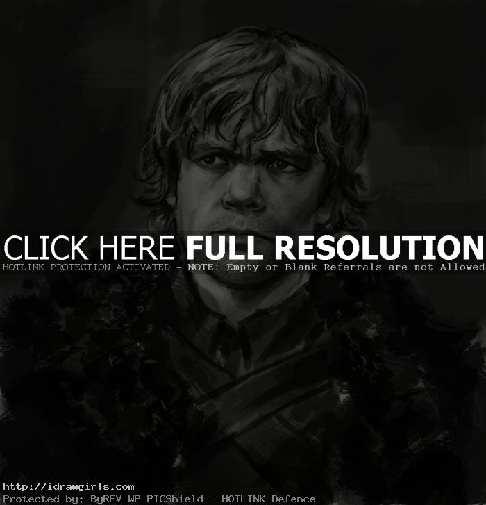 Tyrion Lannister drawing Game of Thrones