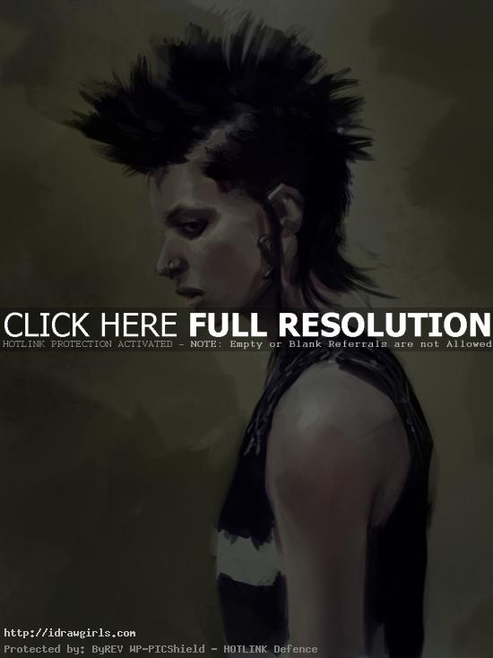 Digital painting tutorial Lisbeth Salander