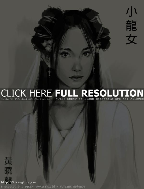 Xiaolongnu condor heroes How to draw Xiaolongnu