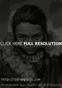 Arya Stark drawing game of thrones