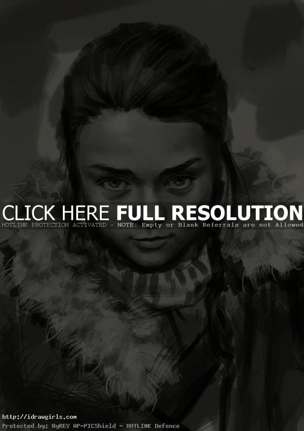 arya stark drawing game of thrones How to draw Arya Stark