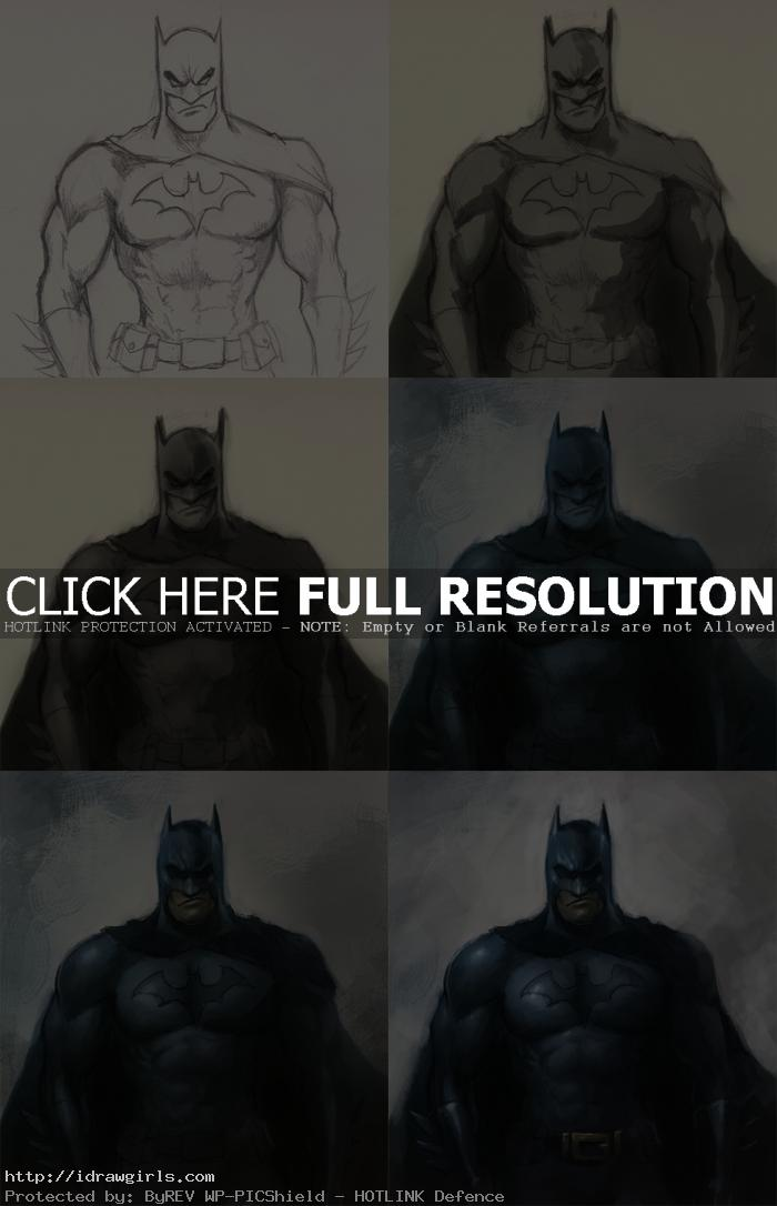 Batman digital painting tutorial