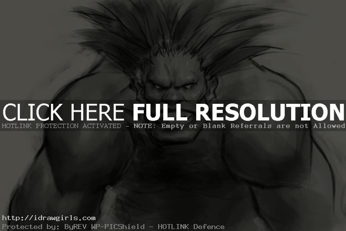 Blanka Street Fighter drawing