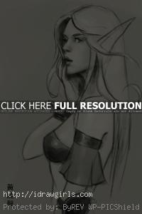 Blood Elf drawing