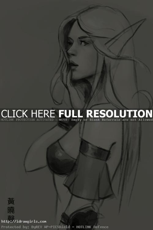 blood elf drawing How to draw Blood Elf