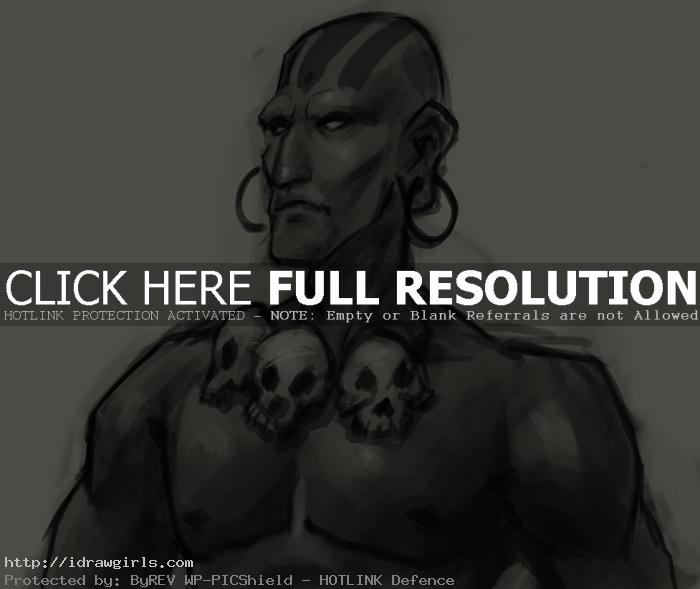 How to draw Dhalsim