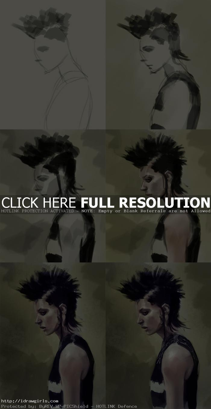 digital painting tutorial Lisbeth Salander Digital painting tutorial Lisbeth Salander