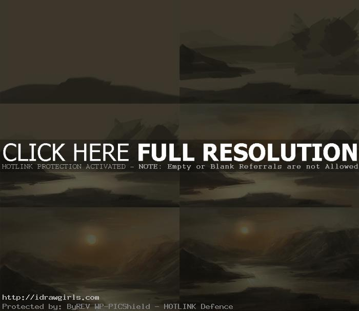 digital painting tutorial basic water landscape Basic digital painting tutorial water