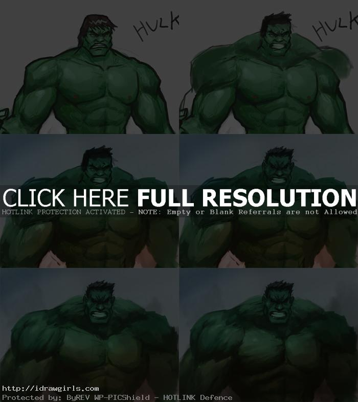 digital painting tutorial hulk Digital painting tutorial Hulk
