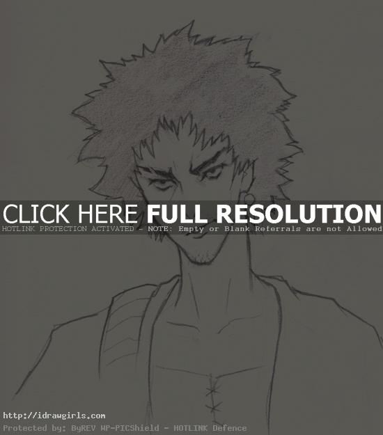 draw mugen samurai champloo How to draw Mugen Samurai Champloo