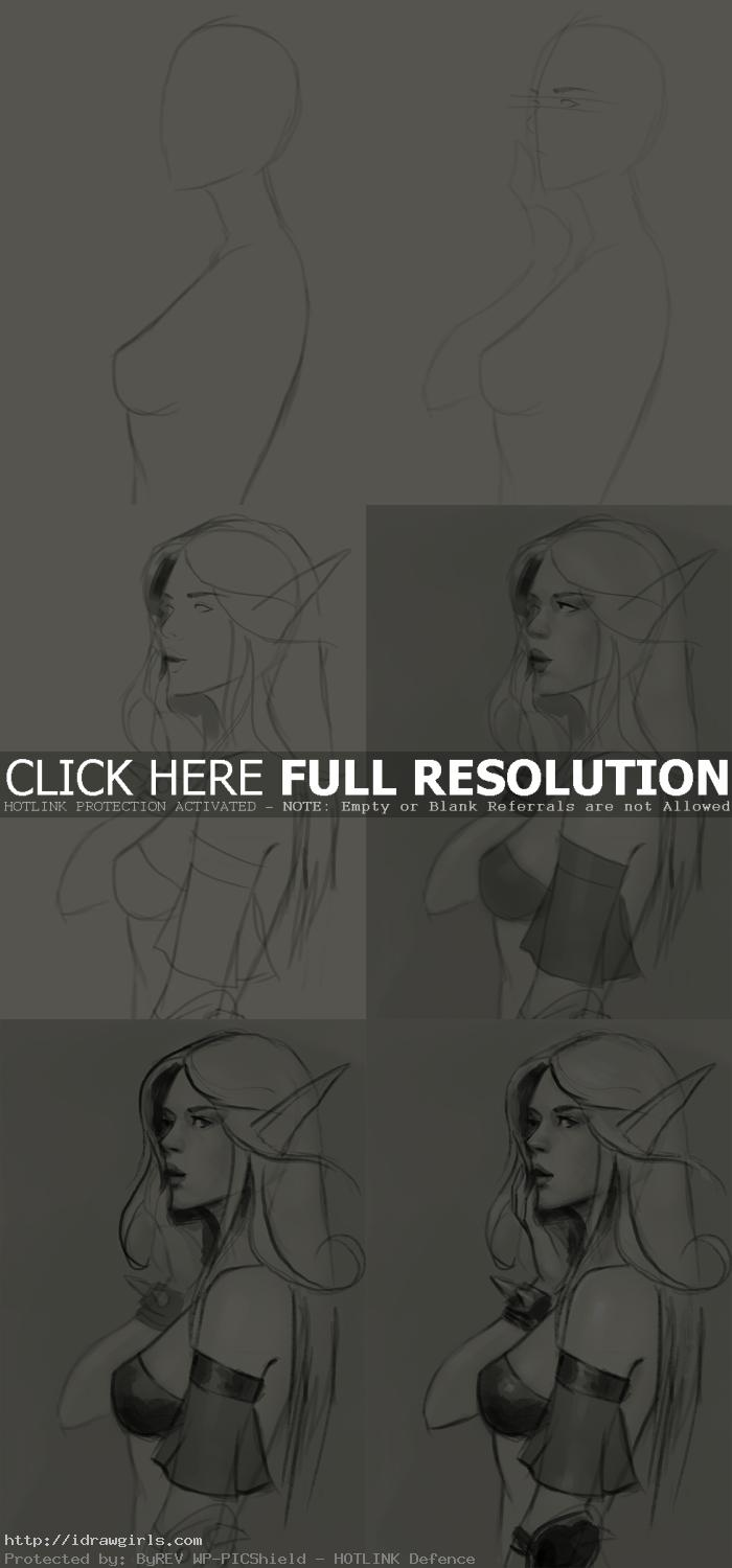 how to draw blood elf How to draw Blood Elf