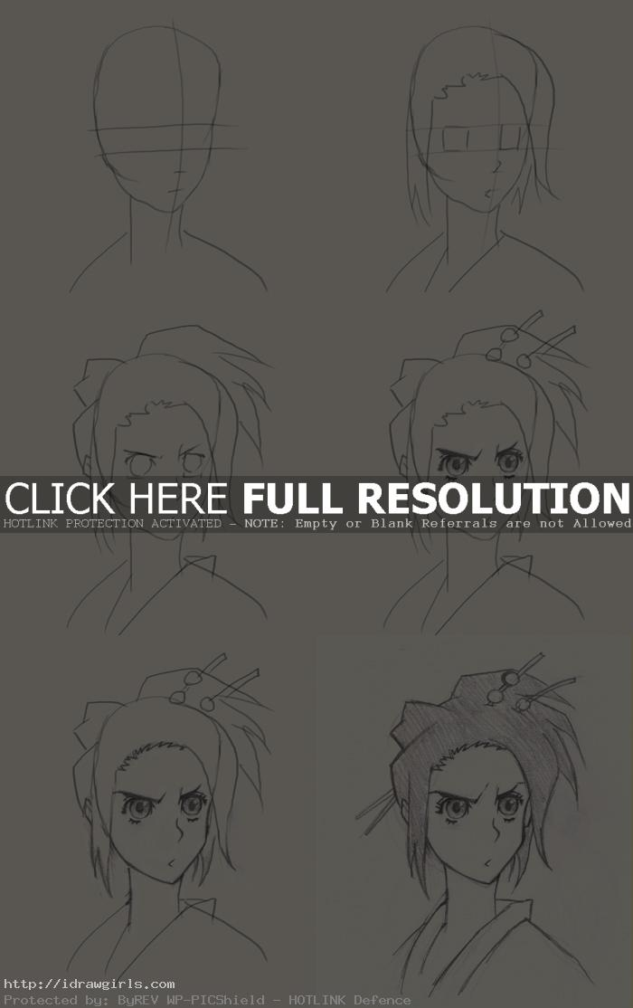 how to draw Fuu from Samurai Champloo
