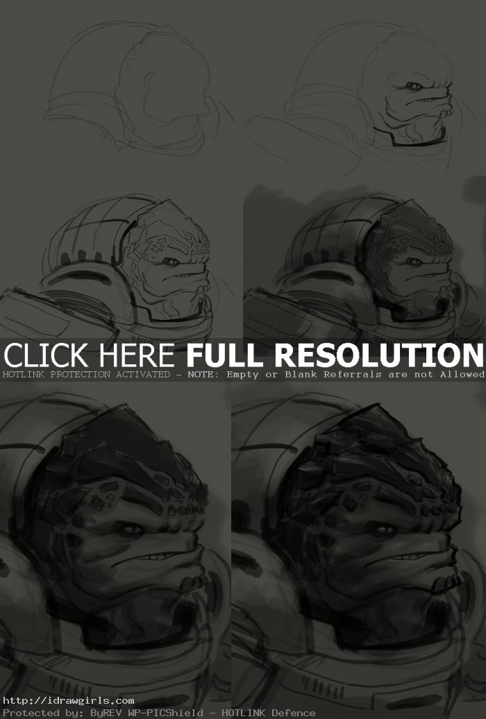 how to draw grunt mass effect How to draw Grunt Mass Effect