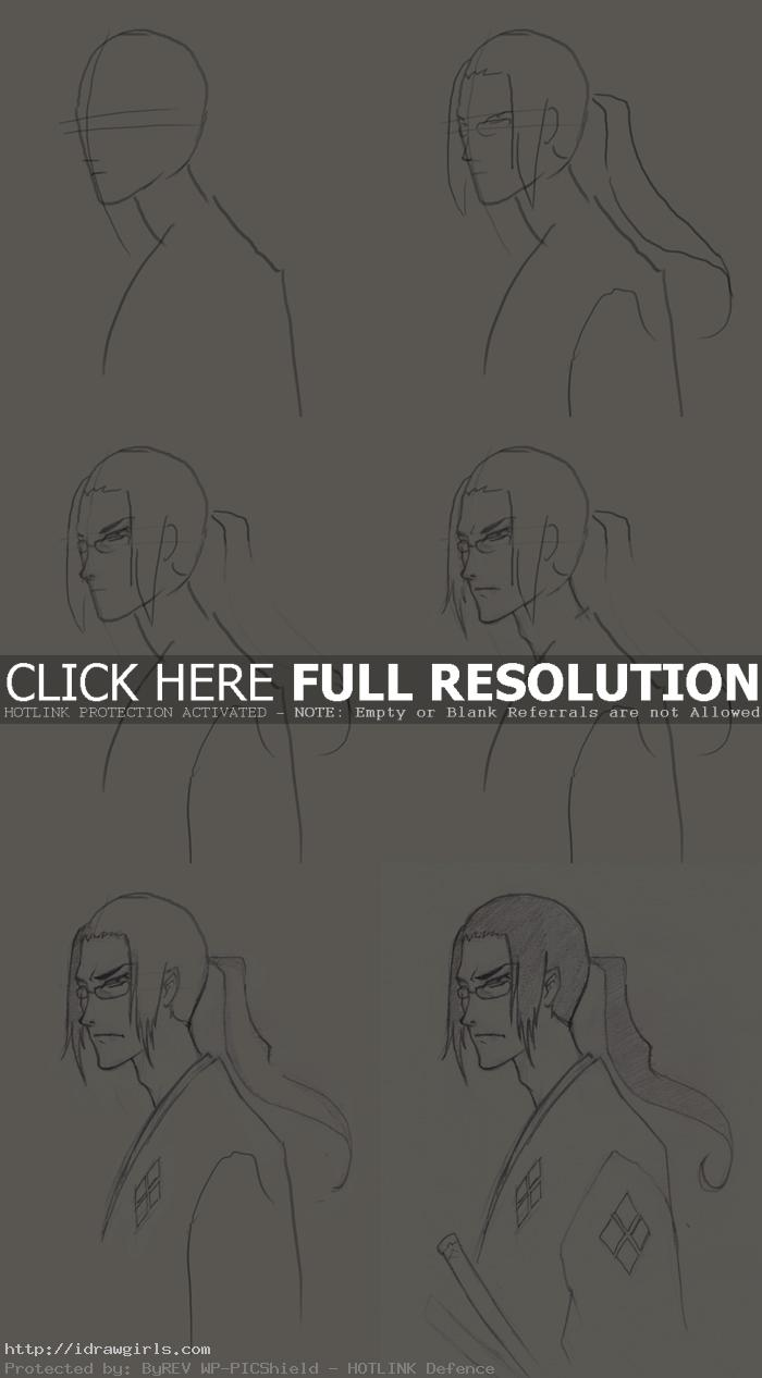 how to draw samurai champloo jin How to draw Jin Samurai Champloo