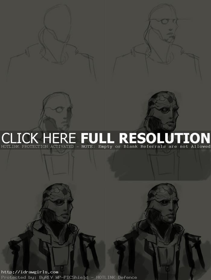 how to draw thane mass effect How to draw Thane Mass Effect