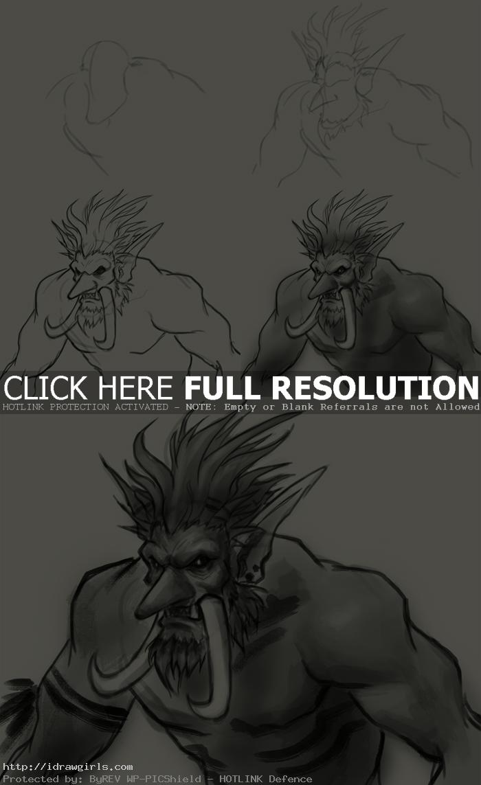 how to draw troll How to draw Troll