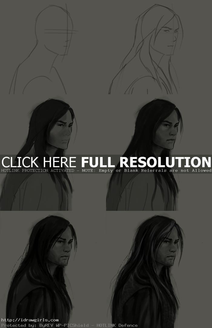 How to draw Yang Guo