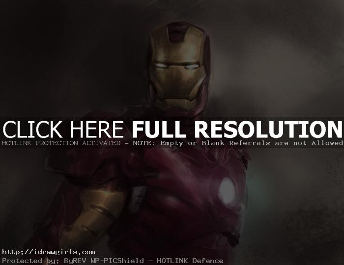 Digital painting tutorial Ironman