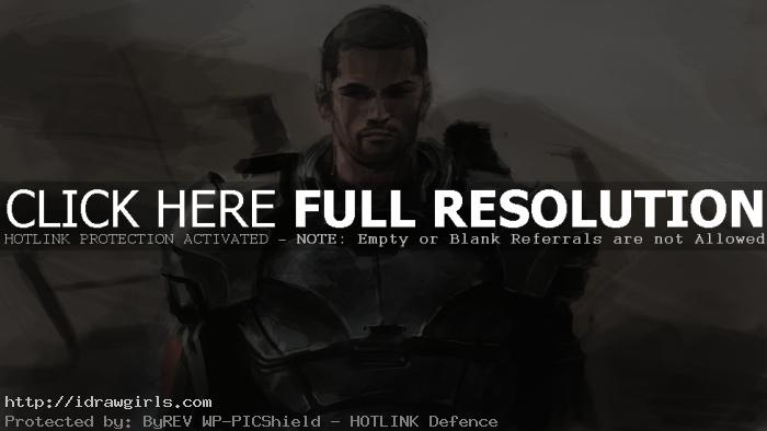 shepard mass effect 3 speed painting Digital painting tutorial Commander Shepard