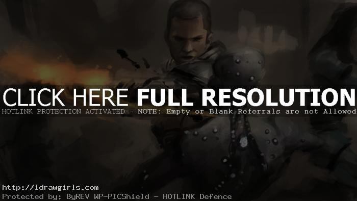 Speed painting Mass Effect fight scene