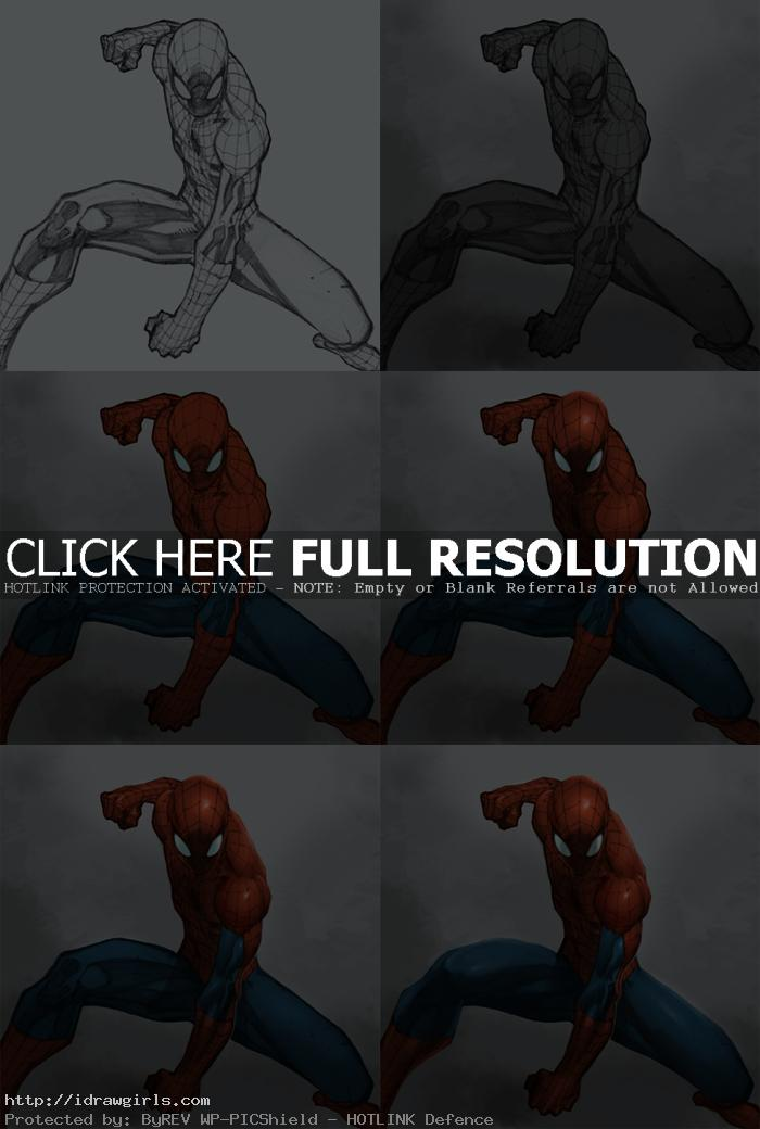 spiderman digital painting tutorial Digital painting tutorial Spiderman