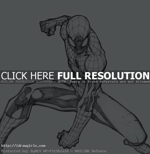 spiderman drawing Digital painting tutorial Spiderman