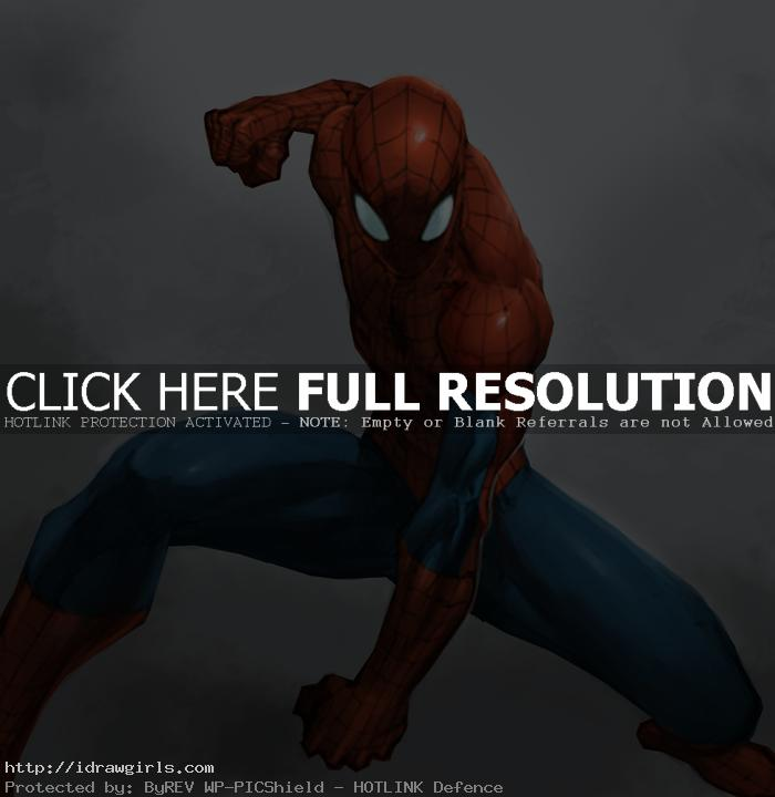 Digital painting tutorial Spiderman